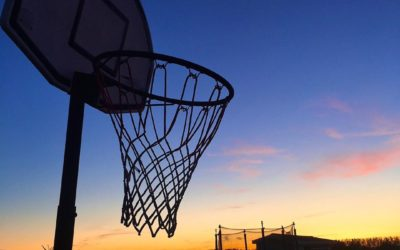 Paniers de basket sur pied mobile